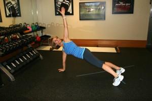 Plank with Torso Rotation